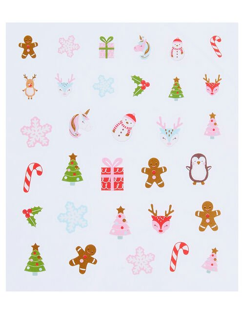 Festive Hair Accessory and Nail Sticker Set, , large