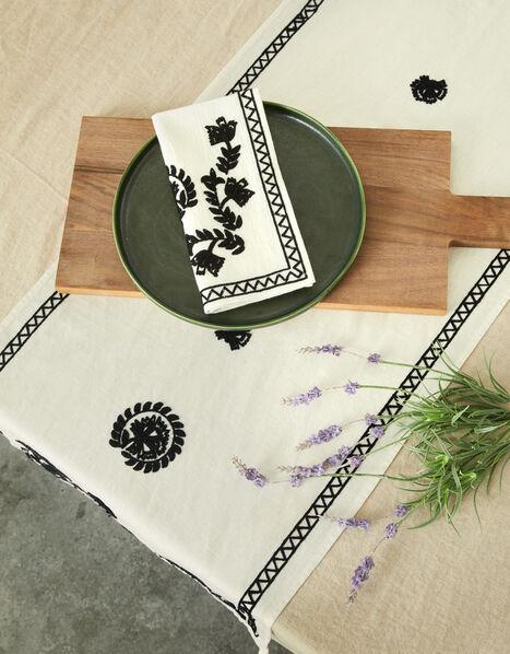 Embroidered Reusable Napkin Set, , large