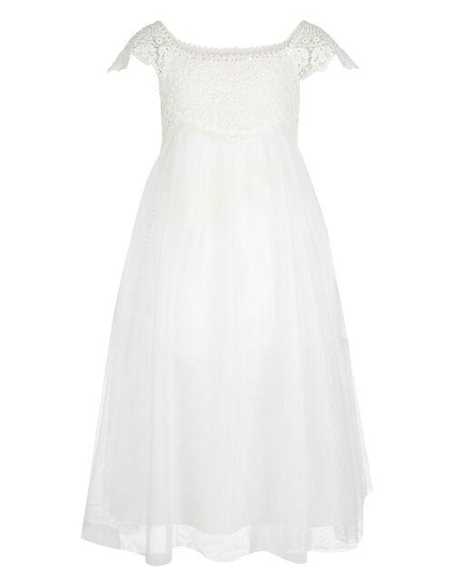 Estella Lace Bodice Occasion Dress, Ivory (IVORY), large