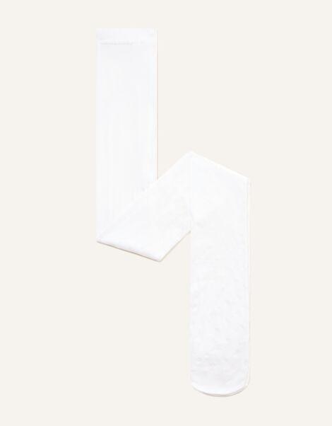 Glitter Heart Tights White, White (WHITE), large