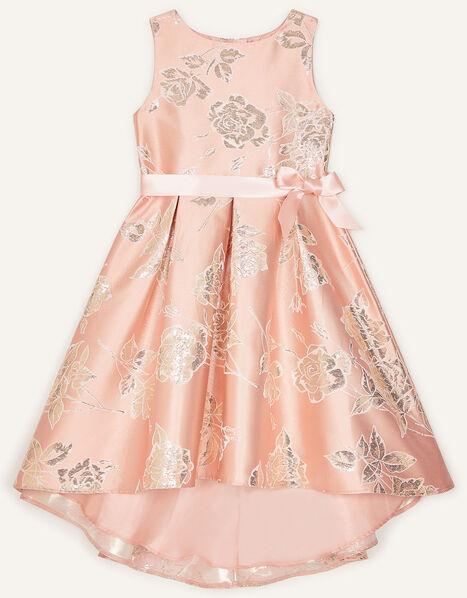 Metallic Floral Jacquard Dress Pink, Pink (PINK), large