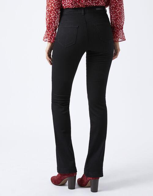 Nieve Bootcut Regular Length Jeans, Black, large