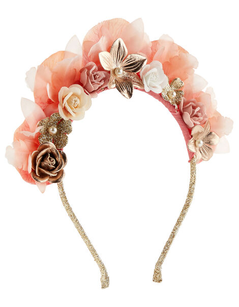 Pearly Flower Crown Tiara , , large