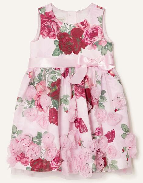 Baby 3D Rose Dress Pink, Pink (PINK), large