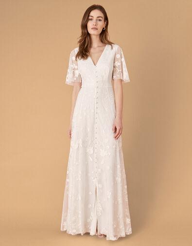 Tanja Floral Embroidered Bridal Dress Ivory, Ivory (IVORY), large