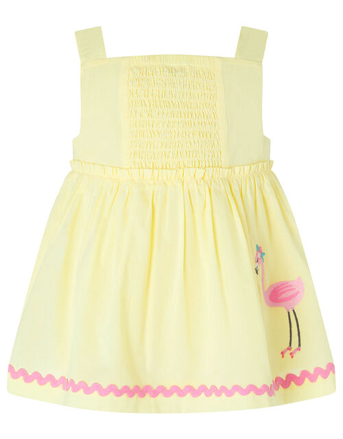 Baby Fifi Flamingo Set in Organic Cotton, Yellow (YELLOW), large