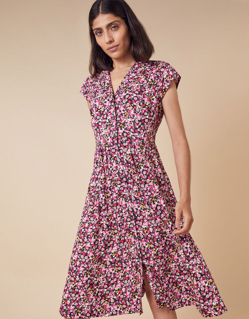 Ditsy Floral Shirt Dress in LENZING™ ECOVERO™, Pink (PINK), large
