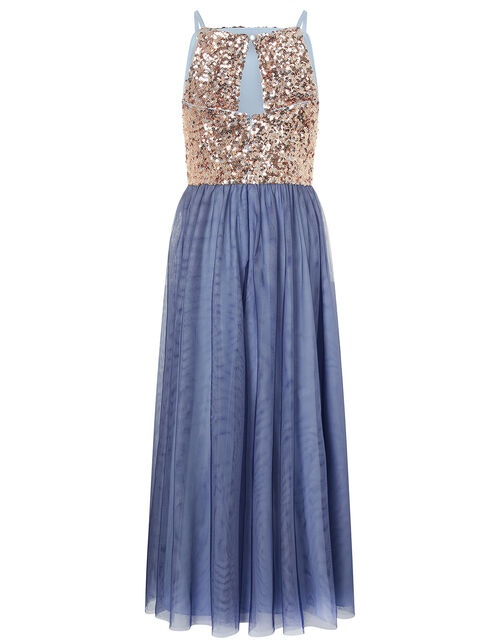 Selena Sequin Maxi Dress, Gold (GOLD), large