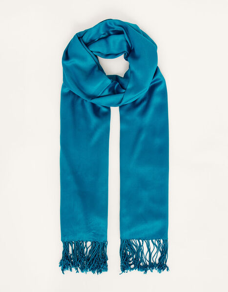 Ola Lightweight Occasion Scarf Teal, Teal (TEAL), large