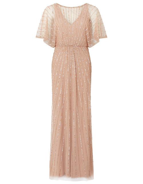 Angelina Beaded Maxi Dress, Pink (PINK), large