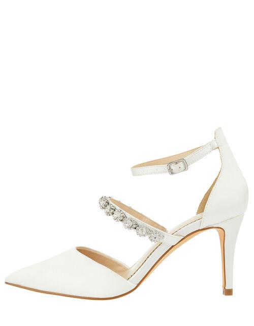 Vixie Embellished Bridal Court Shoes, Ivory (IVORY), large