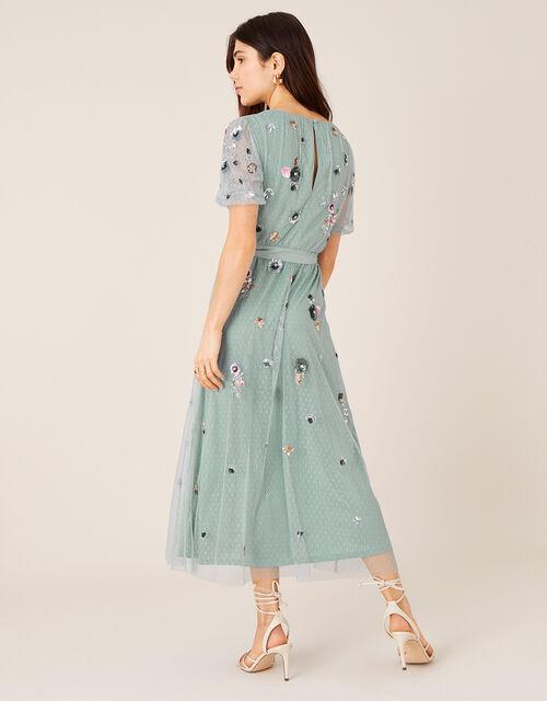 ARTISAN Rosalie Embellished Midi Dress, Grey (GREY), large