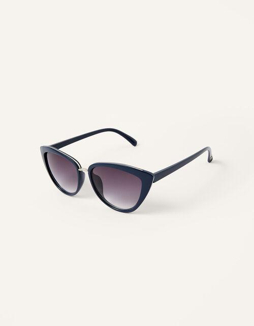 Charlie Cat Eye Sunglasses, Blue (NAVY), large