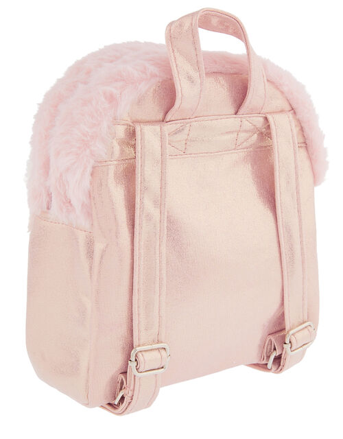 Penny Pearl Fluffy Bunny Backpack, , large