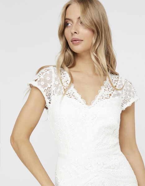 Nellie Floral Lace Bridal Dress Ivory, Ivory (IVORY), large