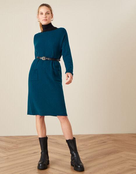 Casual Pocket Dress Teal, Teal (TEAL), large