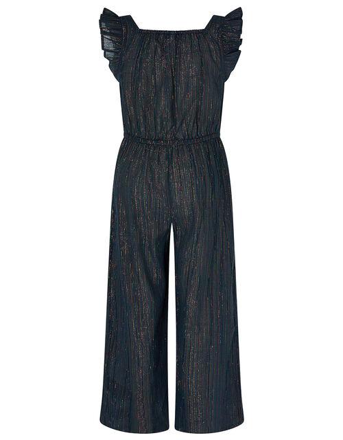 Sparkle Stripe Jumpsuit, Blue (BLUE), large