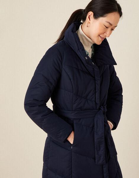 Peach Padded Coat Blue, Blue (NAVY), large