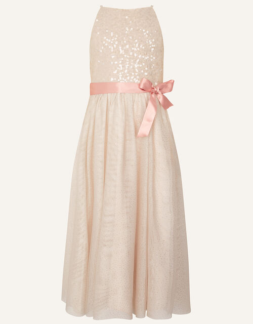 Truth Sequin Maxi Dress, Natural (CHAMPAGNE), large