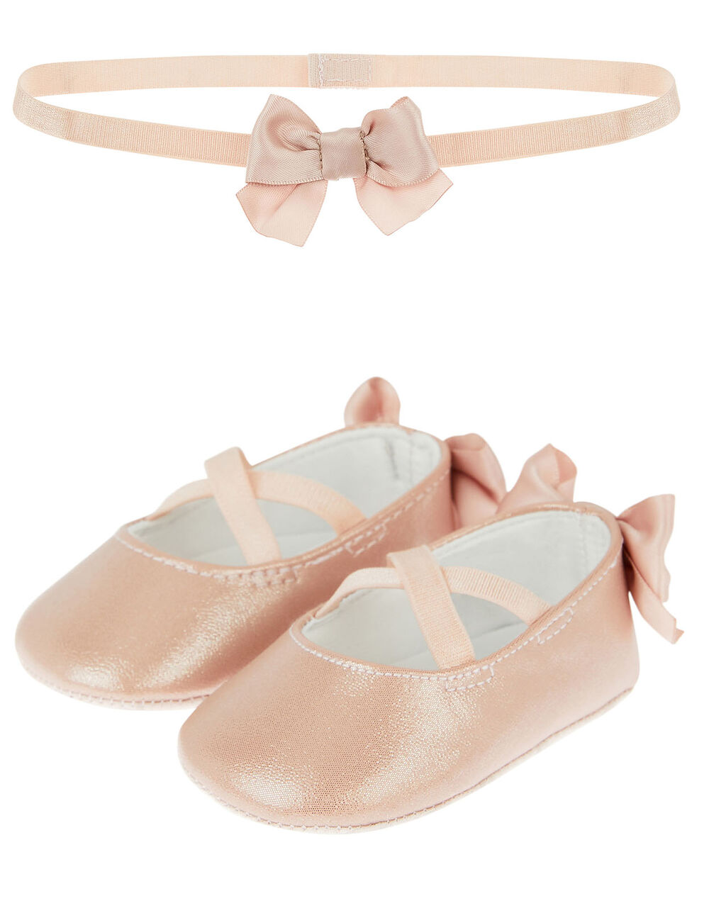 Baby Valerie Booties and Bando Set , Pink (PINK), large