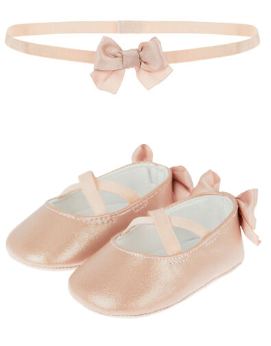 Baby Valerie Booties and Bando Set  Pink, Pink (PINK), large