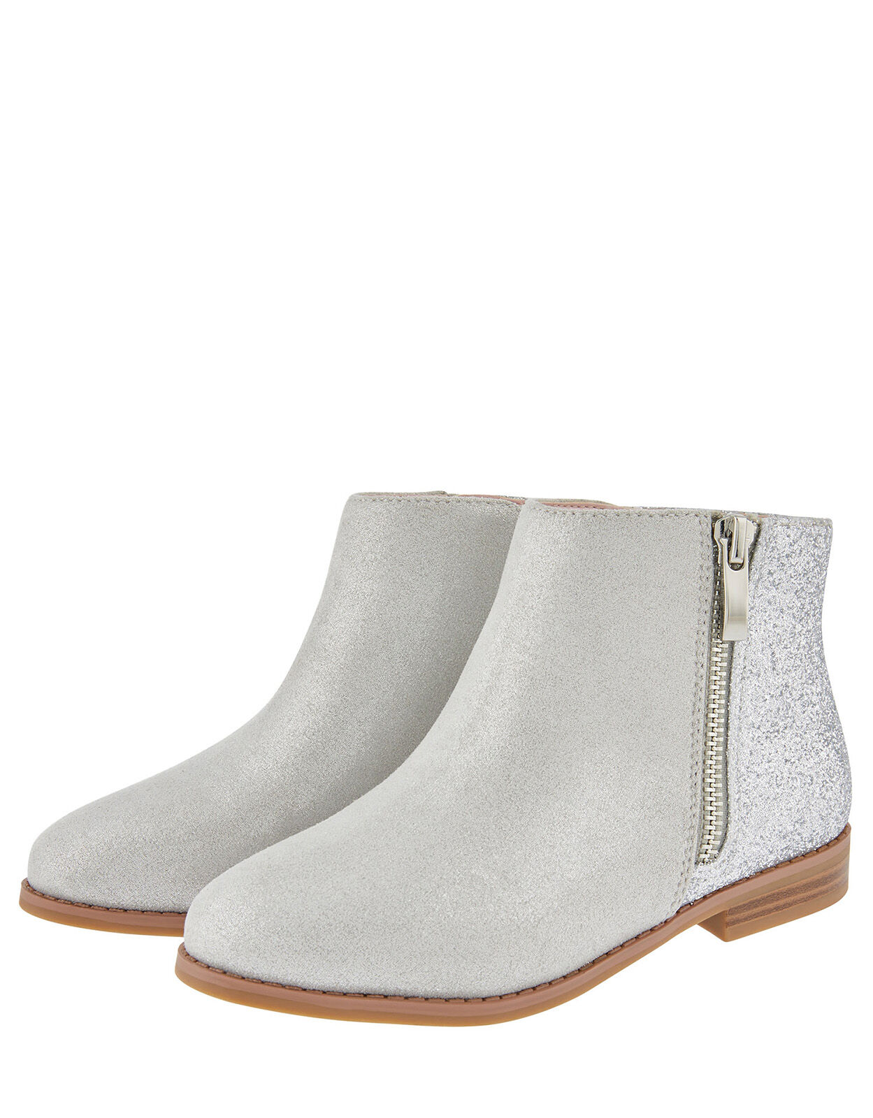 Lainey Glitter Ankle Boots Grey | Girls