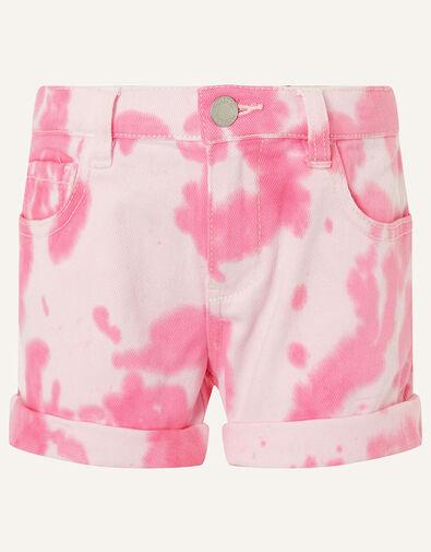 Tie Dye Denim Shorts Pink, Pink (PINK), large