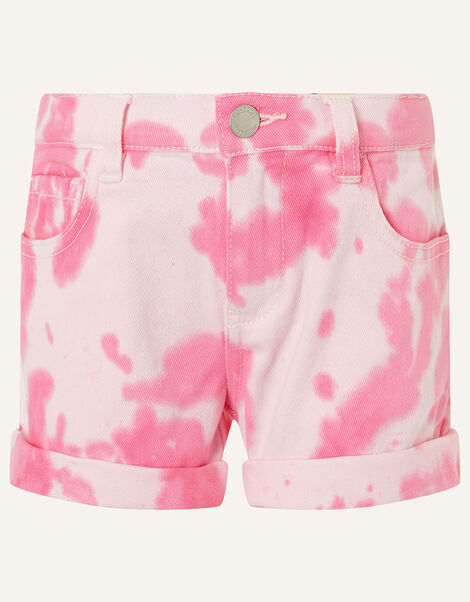 Tie Dye Denim Shorts Pink, Pink (PINK), large