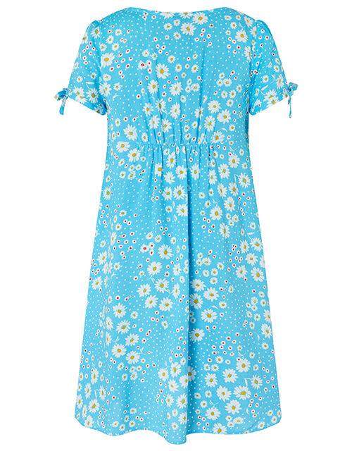Daisy Spot Dress, Blue (BLUE), large