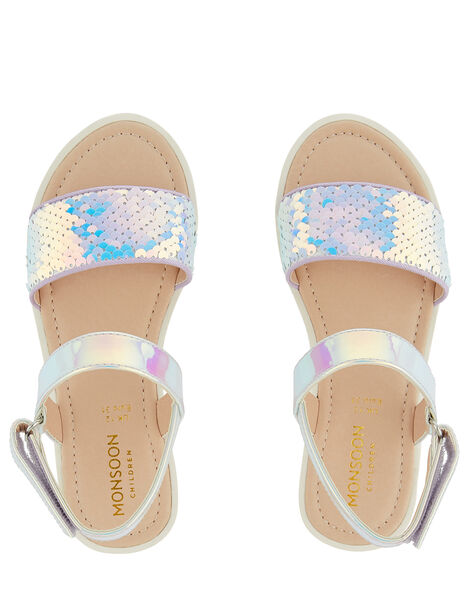 Mermaid Sequin Sandals Multi, Multi (MULTI), large