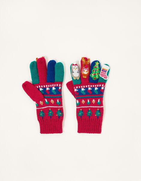 Christmas Party Gloves Multi, Multi (MULTI), large