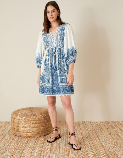 Roxanna Kaftan Midi Dress Blue, Blue (BLUE), large