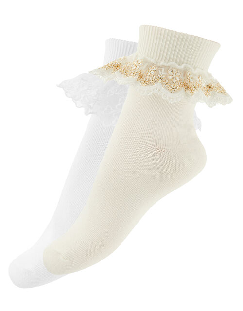Lace Cuff Sock Set, Multi (MULTI), large