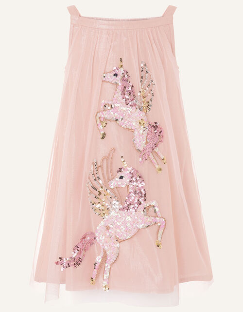 Sequin Unicorn Disco Dress , Pink (PINK), large