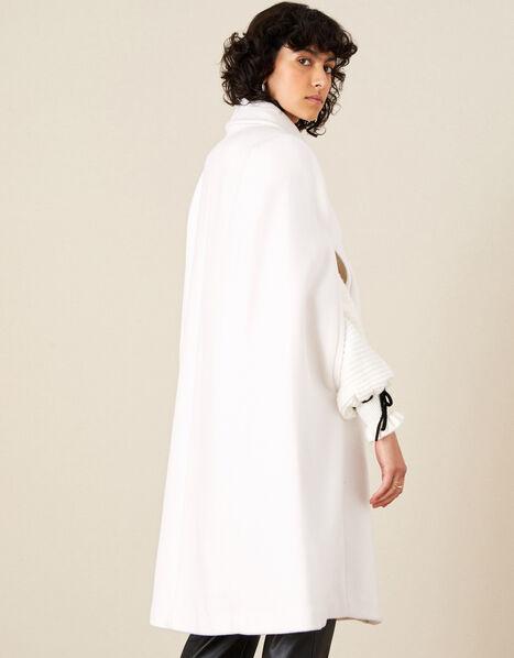 Caroline Sleeveless Coat White, White (WHITE), large