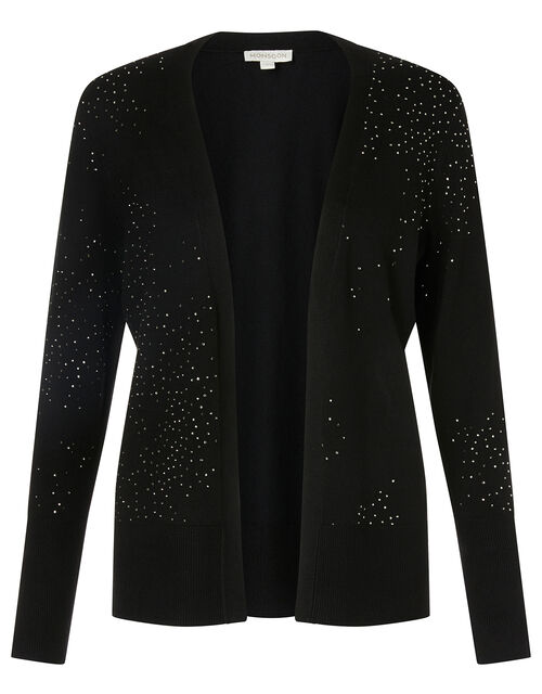 Hotfix Gem Cardigan with Sustainable Viscose, Black (BLACK), large