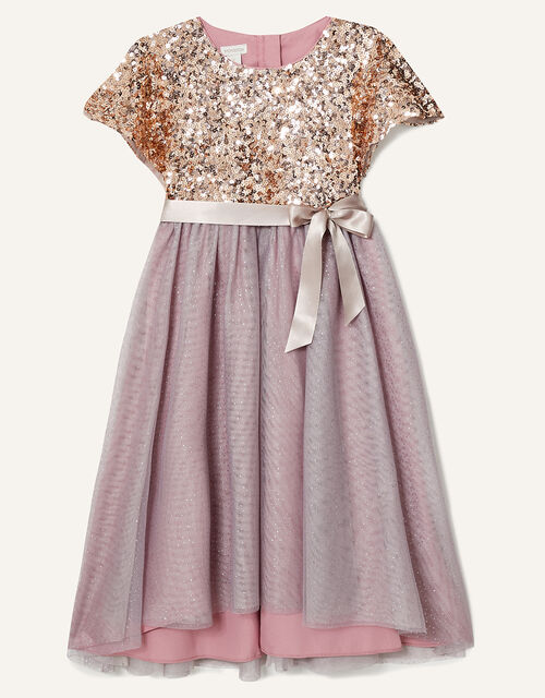 Truth Cape Sleeve Dress , Pink (DUSKY PINK), large