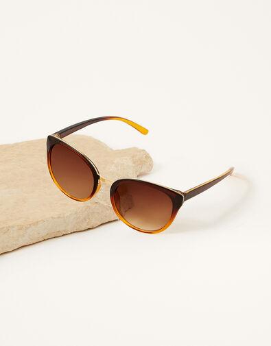 Perla Preppy Sunglasses Brown, Brown (BROWN), large