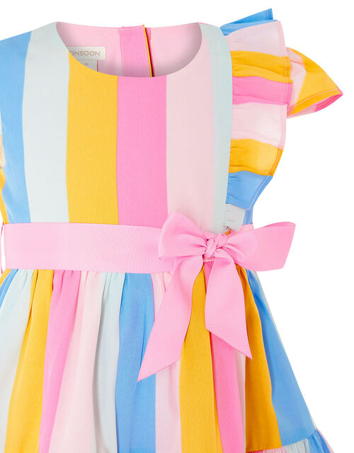 Baby Candy Stripe Dress, Pink (PALE PINK), large