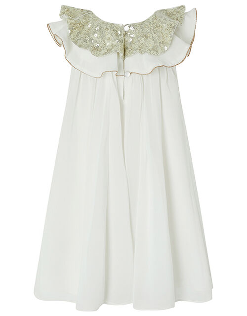 Baby Alayah Sequin Collar Dress, Ivory (IVORY), large