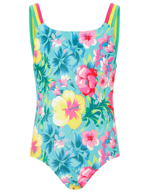 Tropical Floral Swimsuit, Green (GREEN), large
