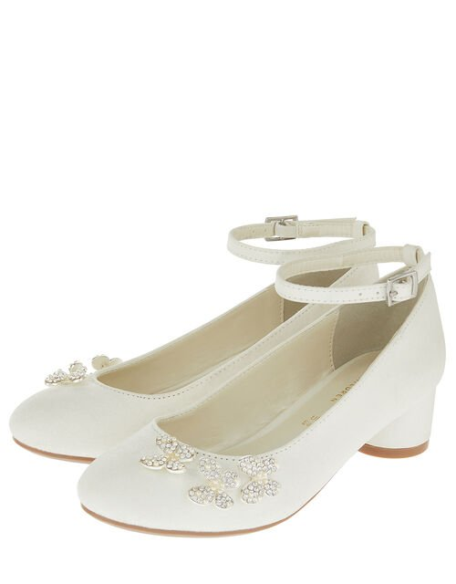 Maria Pearl Butterfly Shimmer Shoes, Ivory (IVORY), large