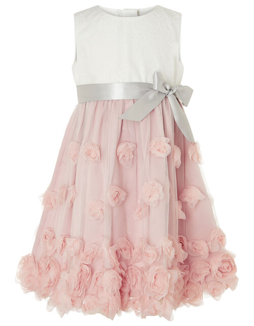 Baby Ianthe 3D Flower Dress, Pink (DUSKY PINK), large