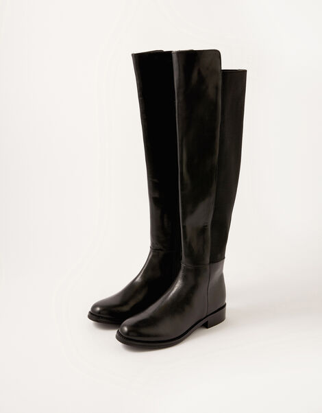 Olivia Leather Over-the-Knee Boots Black, Black (BLACK), large