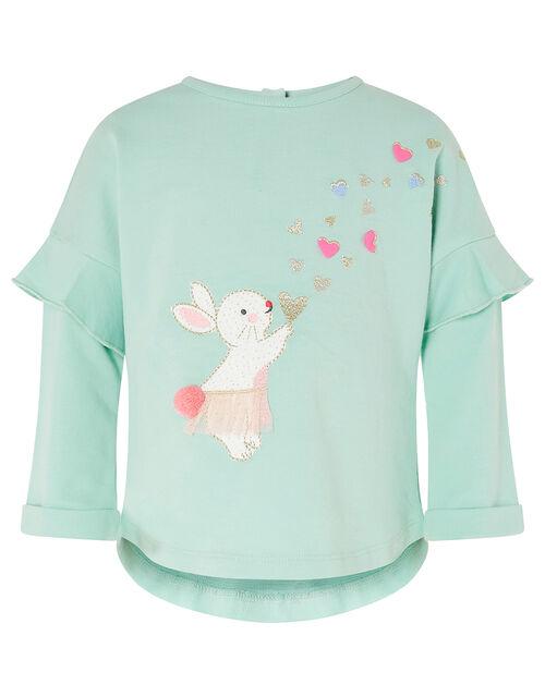 Baby Bunny Heart Set with Organic Cotton, Blue (AQUA), large