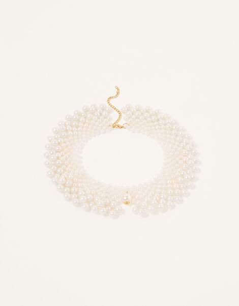 Pearly Collar Necklace, , large