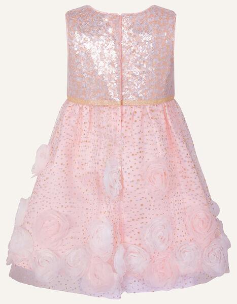 Baby 3D Flower Sequin Dress Pink, Pink (PINK), large