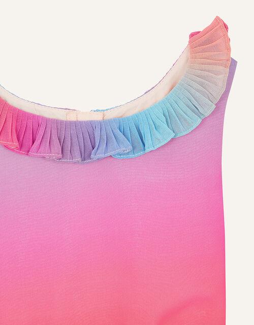 Rainbow Ombre Pleated Dress, Multi (MULTI), large