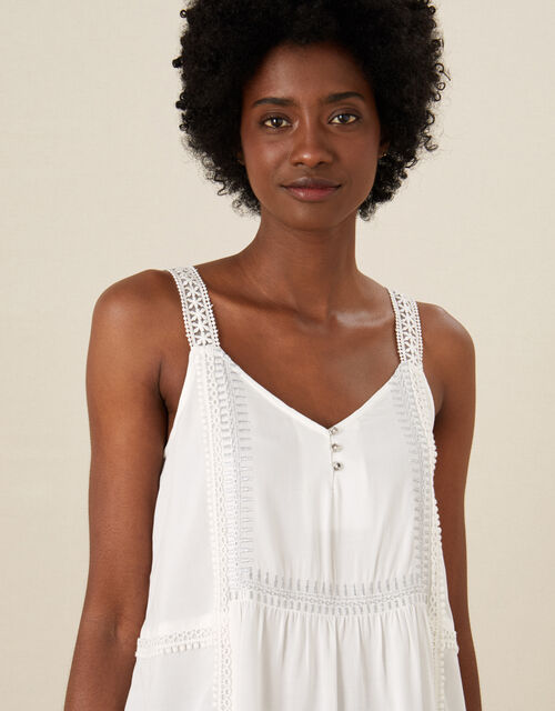 Lily Metallic Embroidered Cami, Ivory (IVORY), large