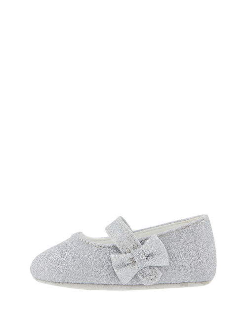 Baby Sparkle Bow Walker Shoes, Silver (SILVER), large